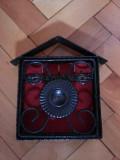 Dulapior metalic,suport elvetian ,pentru chei,din fier forjat