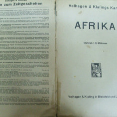 Africa harta color 1937 Leipzig