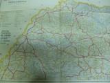 Transilvania Maramures harta color turistica  oficiul turism Romania  RSR