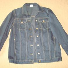 Geaca blugi (jeans), barbati, model clasic (vintage) culoare indigo. Noua. - Geaca barbati, Marime: L, Bumbac