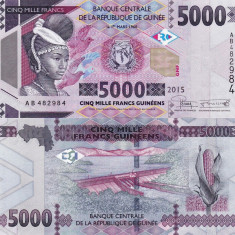 GUINEEA 5.000 francs 2015 UNC!!! - bancnota africa