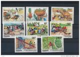 RWANDA 1985 ANIMALE, PASARI,AGRICULTURA, Nestampilat