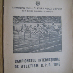 Campionatul International de Atletism RPR, 1949 (10-11 septembrie)