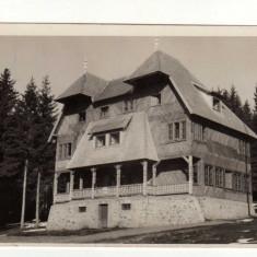 BAILE HARGHITA CABANA UZ BENCZE MENEDEKHAZ HARGHITA FURDO, STAMPILA EKE - Carte Postala Transilvania dupa 1918, Circulata, Fotografie