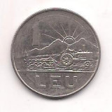No(4) moneda- ROMANIA- 1 Leu 1966