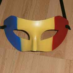 Masca tricolor masca carnaval masca v, Marime: Marime universala, Culoare: Din imagine