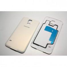 Capac Samsung S5 ORIGINAL alb G900 G900F carcasa baterie