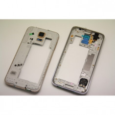 Rama Samsung S5 ORIGINALA gold G900 G900F carcasa mijloc