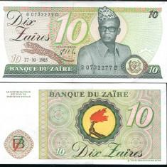 ZAIR - 10 ZAIRES 1985- P 27- MOBUTU- UNC!! - bancnota africa