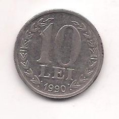No(4) moneda- ROMANIA- 10 Lei 1990