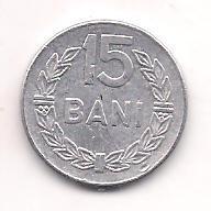No(4) moneda- ROMANIA- 15 Bani 1975 foto