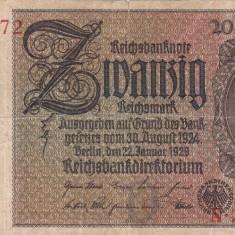 GERMANIA 20 reichsmark 1929 VF!!! - bancnota europa