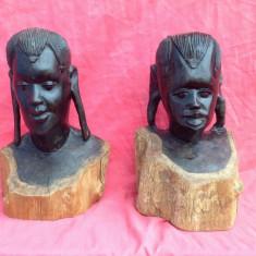 Arta Africana - Cuplu African  realizat din lemn de abanos !!!