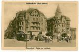 1986 - ORADEA, Metropol Hotel, tramway, carts - old postcard - unused - 1917, Necirculata, Printata