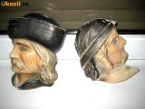 APLICE RUSTICE LEMN-CERAMICA.  Aplice de perete tematica istorica sculptate.