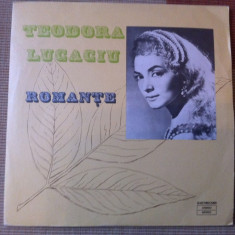 teodora lucaciu romante vinyl disc lp muzica populara romaneasca electrecord