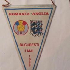 PVM - Fanion fotbal Romania - Anglia 1 mai 1985