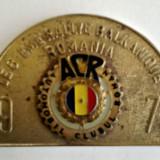 MEDALIE PLACHETA ACR LE 8-EME RALLYE BALKANIQUE ROMANIA 1972 AUTO AUTOTURISM - Medalii Romania