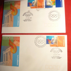 Set 2 FDC - Olimpiada Sydney 2000 Australia