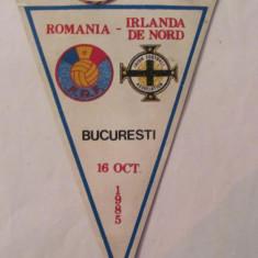 PVM - Fanion fotbal Romania - Irlanda de Nord 16 octombrie 1985