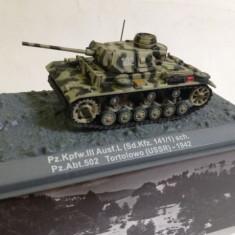 Macheta tanc Pz.Kpfw. III - Tortolowo - 1942 scara 1:72 - Macheta auto