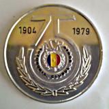 MEDALIE PLACHETA ACR AUTOMOBIL CLUBUL ROMAN 75 ANI 1904 1979 AUTO AUTOTURISM - Medalii Romania