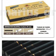IMPERATOR BLACK Carbon Multifiltru - tuburi de tigari negre cu carbon activ - Foite tigari