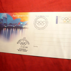 Aerograma Australia cu stampile speciale Olimpiada Sydney 2000