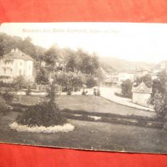 Ilustrata Govora - Vedere din Parc, circulat 1915 Ed.Mayer si Stern - Carte Postala Oltenia 1904-1918, Circulata, Printata