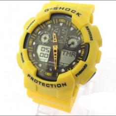 CASIO G-SHOCK GA 100, Yellow Edition - Ceas barbatesc Casio, Mecanic-Manual