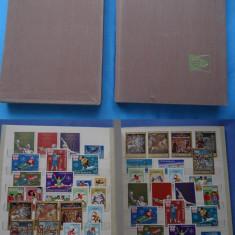 781 Clasor A4 SH cu timbre romania in serii complete si obliterate