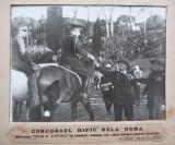 Fotografie  din 1938 , Cap. Topescu si Mussolini , concurs hipic