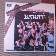 Jocuri populare din Banat disc vinyl lp muzica populara romaneasca folclor lp