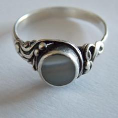 Inel argint vintage cu sidef - 257