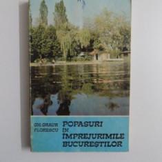 POPASURI IN IMPREJURIMILE BUCURESTILOR de GH. GRAUR FLORESCU, 1983 - Carte Geografie
