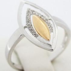 P - Inel aur alb 18k, 750, diamante, 2.33 grame