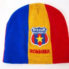 STEAUA - ROMANIA caciula- fes steag tricolor (stema sapca basc) RO29 - Fes Barbati, Marime: Marime universala, Culoare: Din imagine