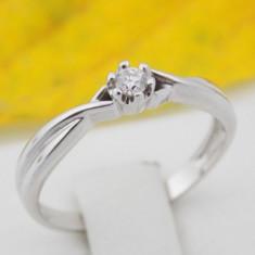 B - Inel aur alb 14k, Diamant cca. 0.07 ct., 1.96 grame - Inel diamant, Culoare: Galben