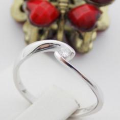 Inel aur 18k, Diamant cca. 0.06 ct., 2.07 grame - Inel diamant