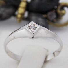 R - Inel aur alb 14k, Diamant, 2.00 grame - Inel diamant