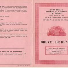 BREVET DE RENTE BELGIA