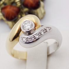 Inel aur 18k, Diamant cca. 0.20 ct., 5.89 grame - Inel diamant