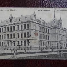 Carte postala veche - Bistritz - Bistrita - Carte Postala Banat dupa 1918, Circulata, Printata
