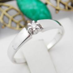 R - Inel aur alb 14k, Diamant cca. 0.03 ct., 1.96 grame - Inel diamant