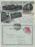 Cernauti , Bucovina - litografie, Circulata, Printata