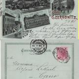 Cernauti, Bucovina - litografie - Carte Postala Bucovina pana la 1904, Circulata, Printata