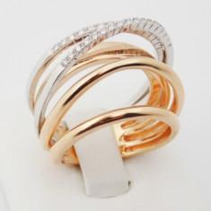 R - Inel aur 18k, 750, Diamante, 11.55 grame - Inel diamant, Culoare: Galben