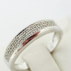 P - Inel aur alb 18k, 750, diamante, 3.96 grame