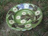 Farfurie veche din ceramica pentru agatat pe perete , blid vechi 30 cm diametru