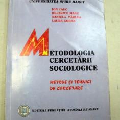 METODOLOGIA CERCETARII SOCIOLOGICE 2002 - Carte Sociologie